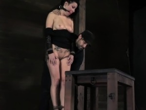 BDSM sub Veruca James nipples tortured