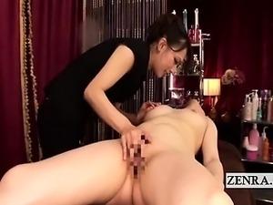 asian threesome lesbian massage