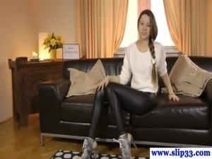 leather cigarette handjob video