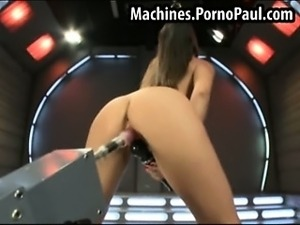 girl sex with a machine