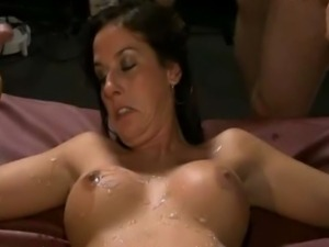 blonde milf big boob blowjob wife