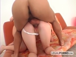 Big cock fucking two cute babes in the ass SB-3-04 free