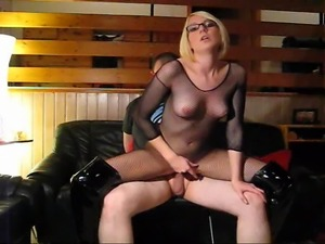 video anal leather garter belt