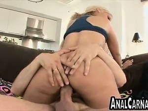Big cock fucks a blonde MILFs ass