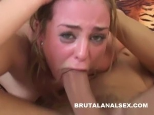 brutal throat fuck anal
