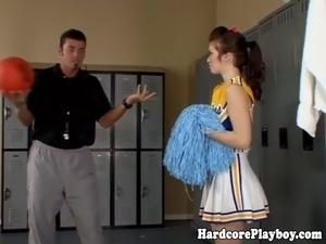 Cheerleader lesbian orgy