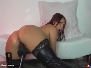 squirting pussy with fuck machines