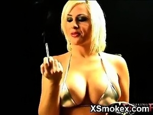 sexy smoking tits