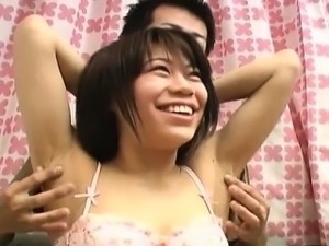 porn video licking her armpit