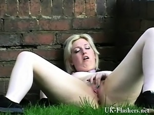 Amateur blondes outdoor masturbation and public