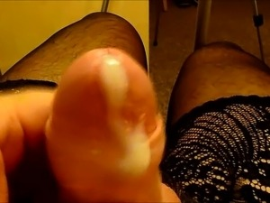 rub dick on ass nylons