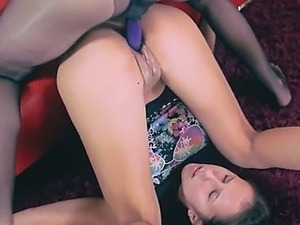 pussy wearing nylon stockings
