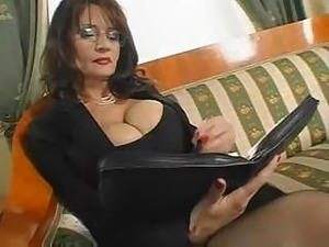 Sexy secretary boobs