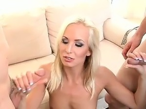 blonde wife gangbanged