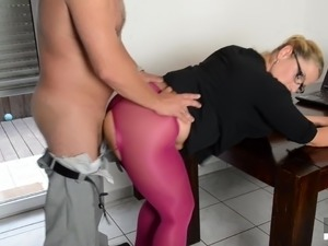 busty blonde gie glasses nylon videos