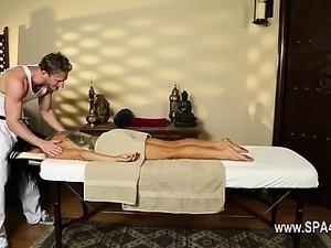 Beautiful breast massage