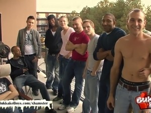 rough amateur gangbang video