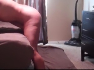 Deep throat then anal fuck with dildo in pussy