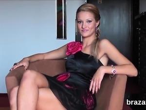 blonde casting sex