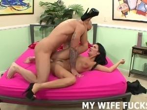 sexy babes riding cock