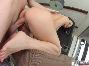 gushing squirter blows from her pussy