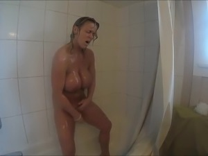 nude young girl in shower