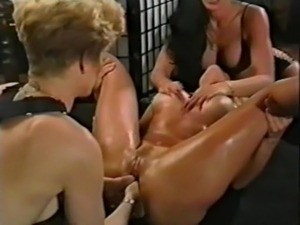 sexy blonde lesbian strapons