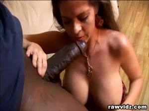 Busty MILF Enjoys Hunk Black Dude's Big Cock
