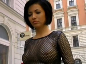 black huge tits leather
