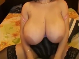 Saggy hanging tits