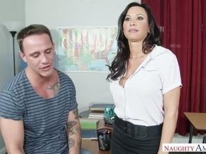 Teacher with big tits