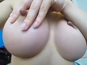 oiled black muscular nipples pec massage
