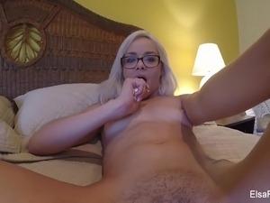 Elsa Jean's home video masturbation