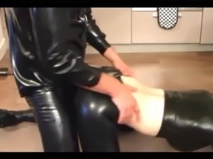 petite purple latex bdsm
