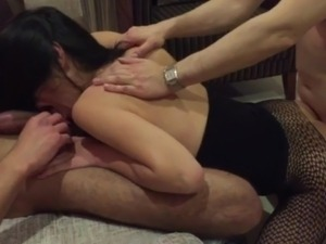 husband enjoys creampie sex with wife