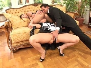 London Keys and Kathia Nobili are in need of a handsome man's prick
