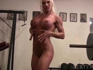 topless gym girl