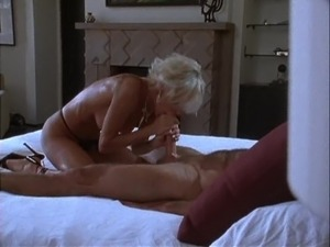 Short hair blonde shaved pussy cherished with nice licking