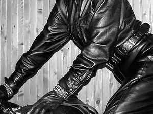black girls in leather