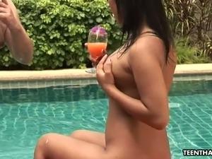 vary young girl in bikini