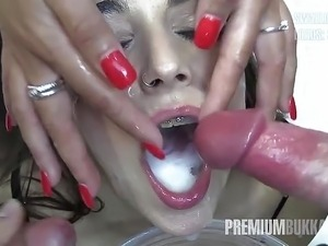 young girl swallow piss