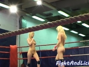 lesbian wrestling and strapon fuck