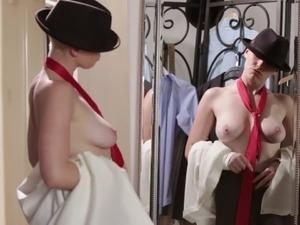 Hot girl strips nude
