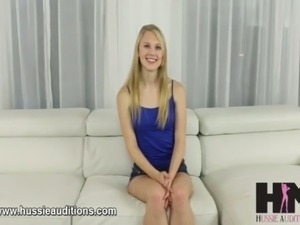 Naked news audition video