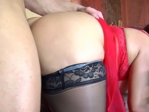 mature red head anal