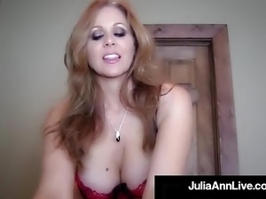 Elegant Blonde Milf Julia Ann Gets A Warm Load In Her Mouth!