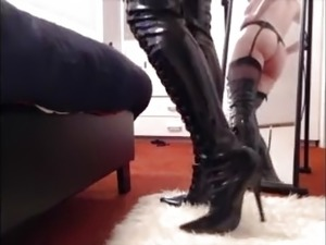 anal sex video in thigh boots