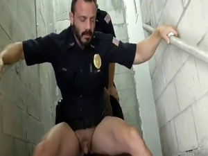 police officer and girl exposing breasts