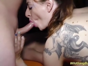 wild party girls kissing