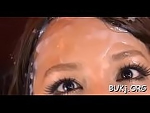 black bukkake facial